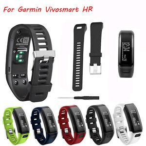 Replacement-Soft-Silicone-Bracelet-Strap-WristBand-for-Garmin-Vivosmart-HR-Watch