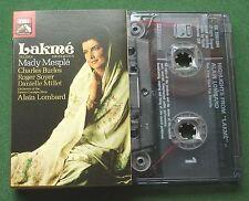 Delibes Lakme Highlights Mesple Burles Soyer + Lombard Cassette Tape - TESTED