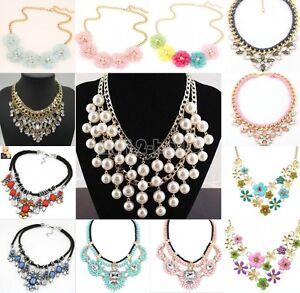 Charm Fashion Jewelry Choker Chunky Statement Bib Collar Necklace Pendant Chain