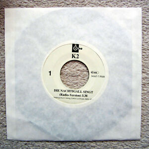 Single-BAND-K2-DISCO-1994-RARITAT-DIE-NACHTIGALL-SINGT