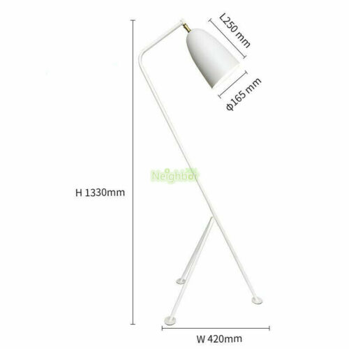 Modern Grasshopper LED Floor Lamp Triangle Lights Greta Magnusson Grossman Light