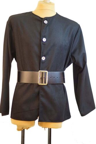 Men/'s BLACK PIRATE-SAILOR JACKET S-4XL Medieval-LARP-Sca-Cosplay-Re enactment