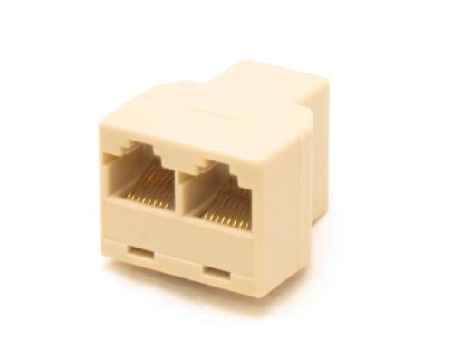 Lot 10 Rj45 3 way CAT5 CAT6 LAN Splitter Adapter Extender Coupler Jointer Plug