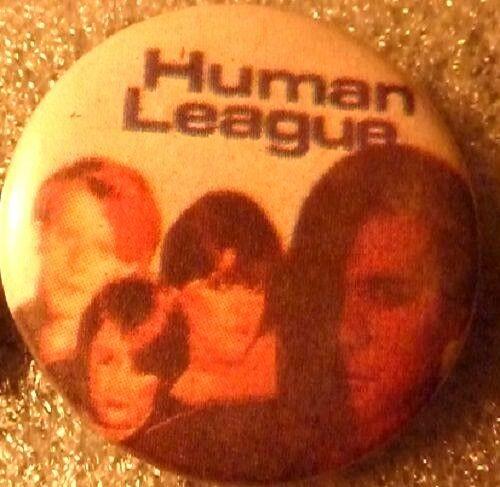 """1980/'s Button//Badge 1 /"""" x 2 Vintage/"""" 1970/'s HUMAN LEAGUE"""
