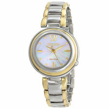 Citizen Eco Drive EM0337-56D Ladies Sunrise Mother of Pearl Two Tone 30mm Watch