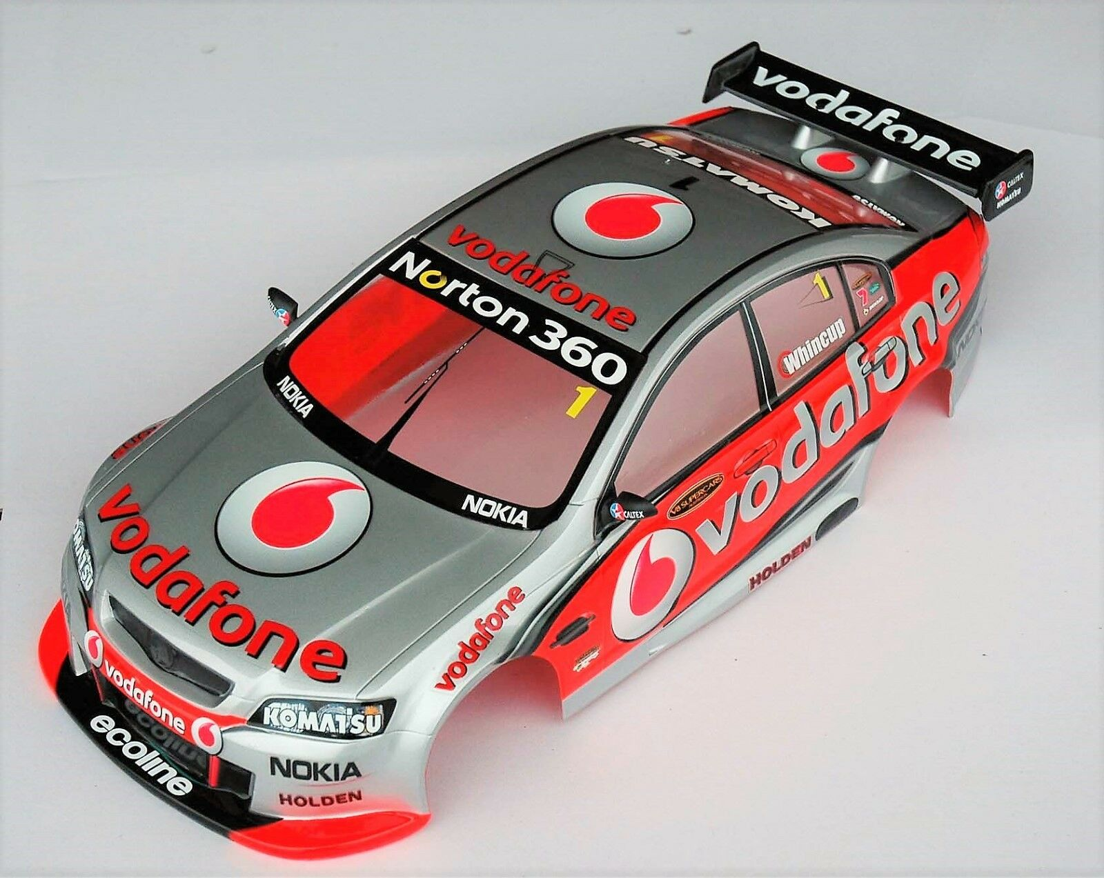 LOT OF 5 1 10 RC Clear Lexan Body Holden Commodore Vodafone 200mm