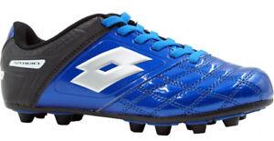 NEW-LOTTO-FORZA-II-Junior-Kids-Soccer-Cleats-in-Blue-black
