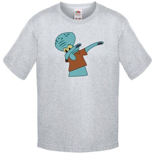 Squiddi facendo la DAB T Shirt per bambini dimensioni Sponge Bob Square inseritrice