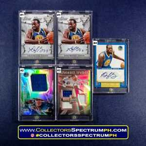 Draymond Green Rookie, Autoraph and Patch NBA Cards w/ Free Mags