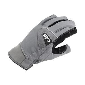 Gill Deckhand Short Finger Sailing Gloves - Grey