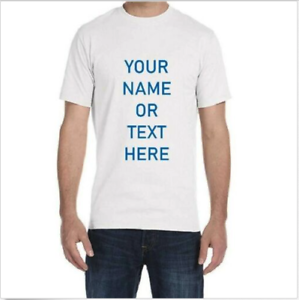 f711458a PERSONALIZED CUSTOM PRINT YOUR OWN TEXT ON T-SHIRT CUSTOMIZED TEE ...