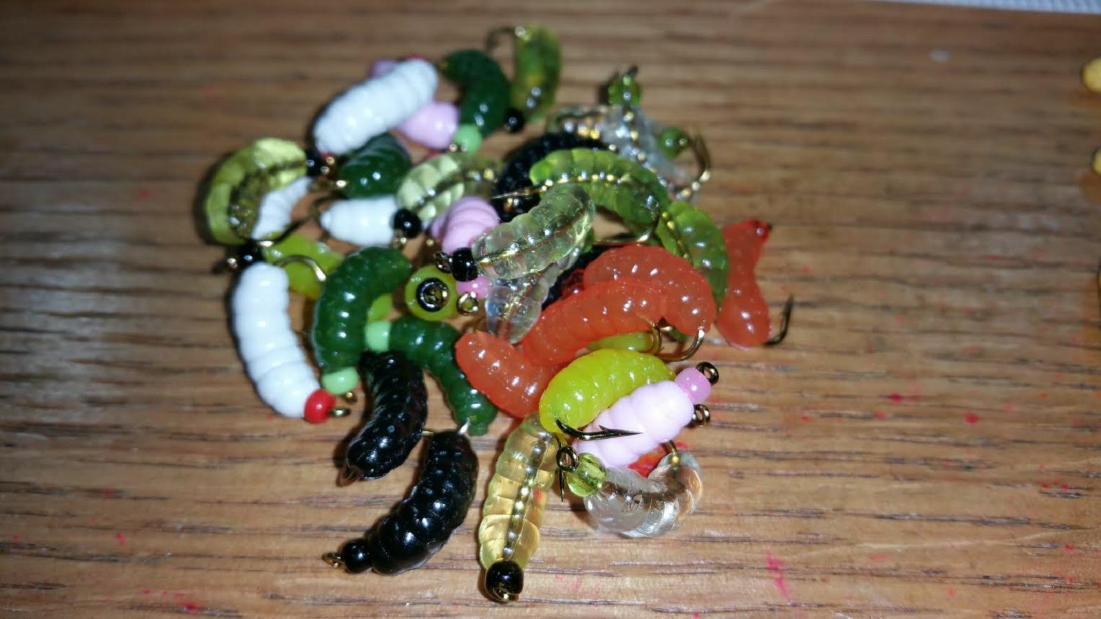12  Dozen - BH Rubber Wax Worm Grub Mix Wet Fly - Trout, Crappie, Pan Fish  outlet online