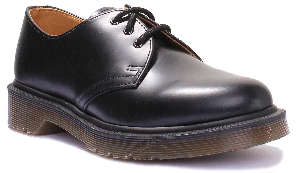 Dr Martens 1461 PW Womens Leather Matt Black Oxford shoes UK Size 3 - 8