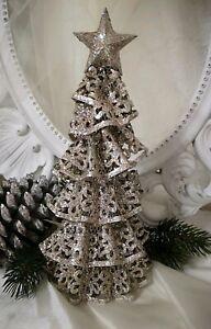 weihnachtsbaum tannenbaum stern silber metall weihnachten. Black Bedroom Furniture Sets. Home Design Ideas