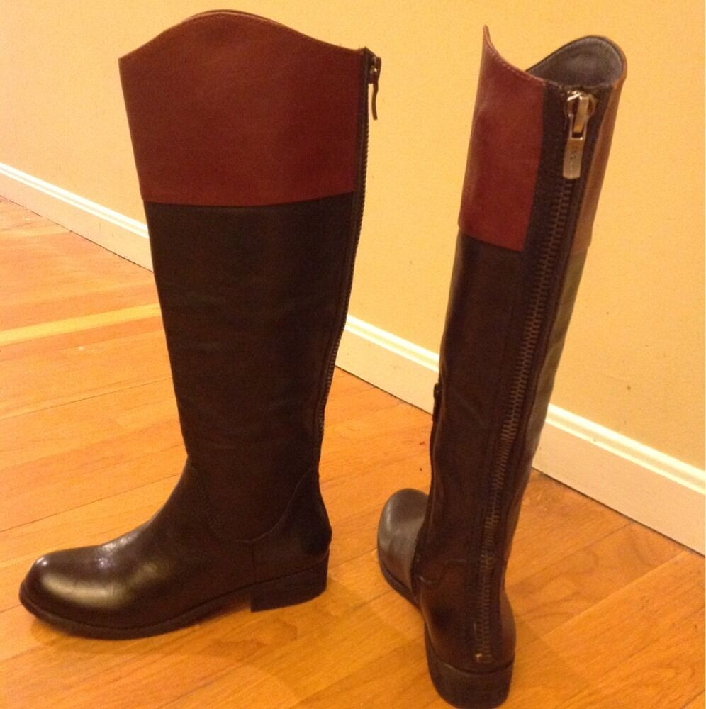 BCBG Generation Genuine Leather Riding Boots Sz 6B 36