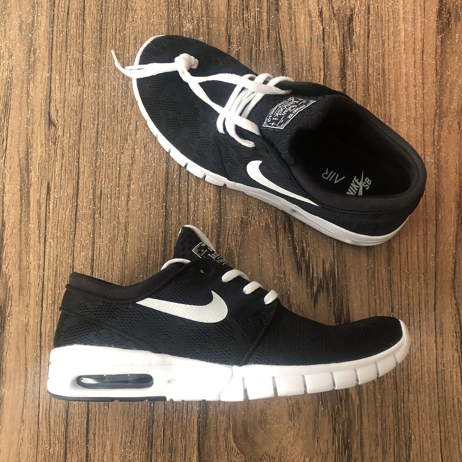 A1215G Nike SB Stefan Janoski Max Black   White Men's 631303-010 Size 7 NEW