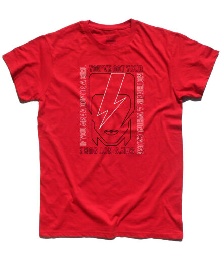 Men/'s T-Shirt Inspired Rebel Rebel by David Bowie Lyrics Collection