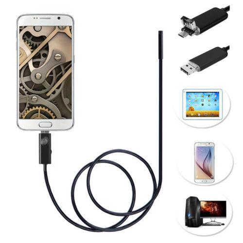 HD 720P Mini USB OTG Endoskop Schlange USB Kamera Wasserdicht Für Android PC