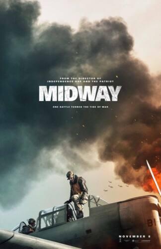 J-175 Midway Roland Emmerich 2019 Movie Fabric Canvas Poster 24x36 14x21