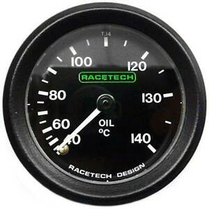 Racetech-Oil-Temperature-Gauge-Mechanical-No-Back-Light-amp-7ft-Capilary