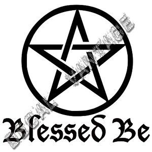 Blessed-Be-Pentacle-Vinyl-Sticker-Decal-Wicca-Witch-Nature-Choose-Size-amp-Color
