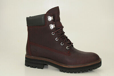 Details zu Timberland London Square 6 Inch Boots weinrot