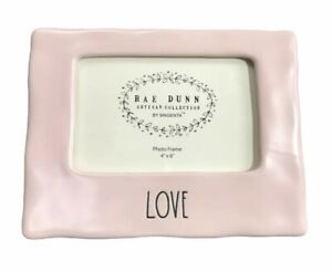 """Rae Dunn Day Pink Picture Photo Frame 4"""" X 6"""" By Magenta FREE SHIP"""