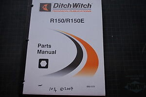 ditch witch r150 tractor parts manual book catalog shop compact rh ebay com Ditch Witch 8020 Spec Ditch Witch 8020 Specifications