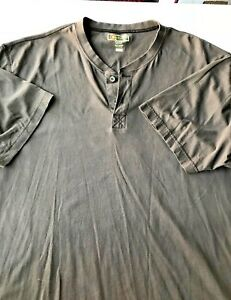 Mens-Short-Sleeved-XL-TG-Brown-Cotton-Crew-Neck-Shirt-Gently-Used