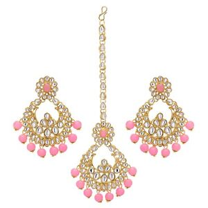Punctual Indian Traditional Goldtone Dangle Jhumka Earring Set Women Ethnic Jewellery At Any Cost Engagement & Wedding