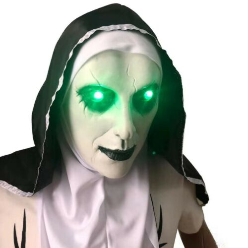 The Nun Valak Mask Cosplay The Conjuring Scary LED Horror Halloween Props