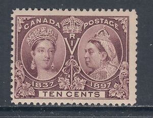 Canada-Sc-57-MNH-1897-10c-brown-violet-QV-Jubilee-fresh-bright-F-VF
