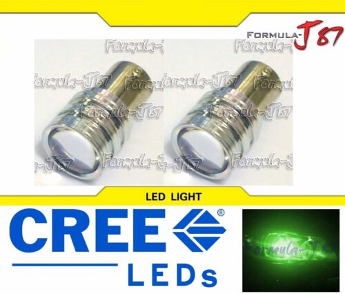 LED Light 5W PY21W Green Two Bulbs Rear Turn Signal Replacement Show Use JDM OE