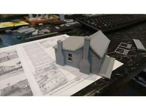 HO-Scale-Miner-cottage-Gray-Hobby-train-town-unassembled-diy-kit