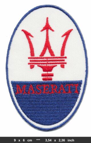 Maserati Patch coche auto deportivo de carreras logotipo emblema aufbügler Patch Badge