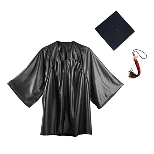 Childrens Nursery Graduation Gown And Hat 4-14 Years Kids Choir Costume With Cap