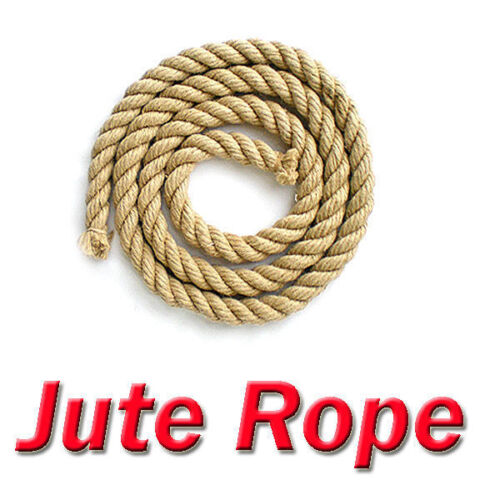Natural Jute Rope Twine Cord Strand Twisted Decking Garden Boat Sash tag of war