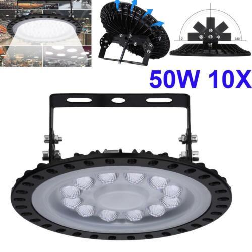 10X50W UFO LED Hallenleuchte Highbay Industrielampe Hallenbeleuchtung Fluter