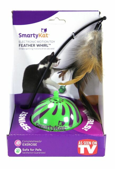 NEW SmartyKat Feather Whirl Electronic Motion Cat Toy, As Seen On TV