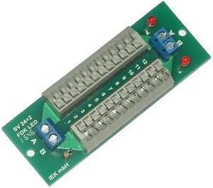 Stromverteiler SV 24+2 FDK LED, Verteiler Federklemmen, Schnellanschlu<wbr/>ßklemmen
