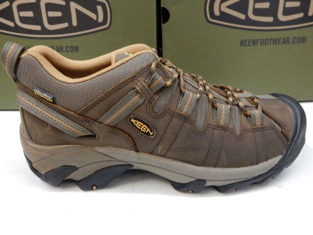 fdbf55839b1a Mens US 10.5 EU 44 Shoes KEEN Targhee II Brown Hiking Waterproof Trail