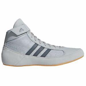 Adidas Havoc Kids Wrestling Chaussures de Boxe Bottes Baskets Enfants Gris CVS