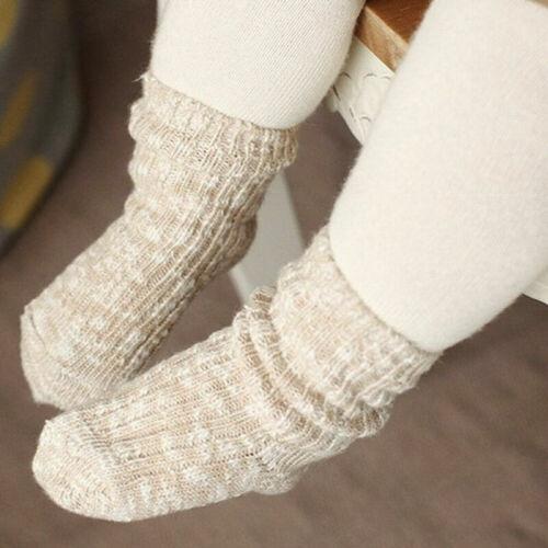 Cute Knitting Boy Toddler Baby Thick Floor Non-slip Socks Girl Warm Kid