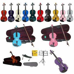 new beginner student violincasebowfree set strings
