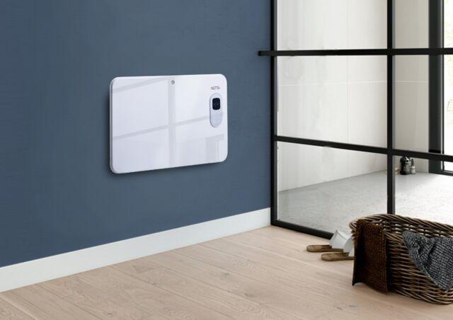 NETTA 1000W Electric Digital Metal Panel Heater Radiator Thermostat Weekly Timer
