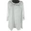 NWT-Southern-Lady-White-Floral-Lace-3-4-Sleeve-Shirt-Women-039-s-Size-2X miniatuur 1
