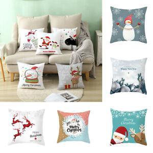 Pillow-Christmas-Xmas-Decor-Cover-2019-Sofa-Merry-Cushion-Home-Case-Covers-Throw