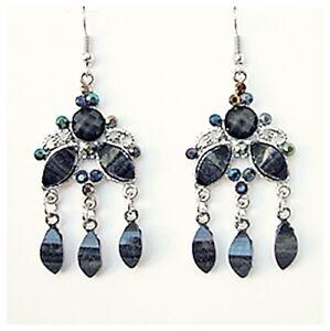 Boucles-d-039-oreilles-style-oriental-pierre-emaux-gris-strass-bijoux-fantaisie