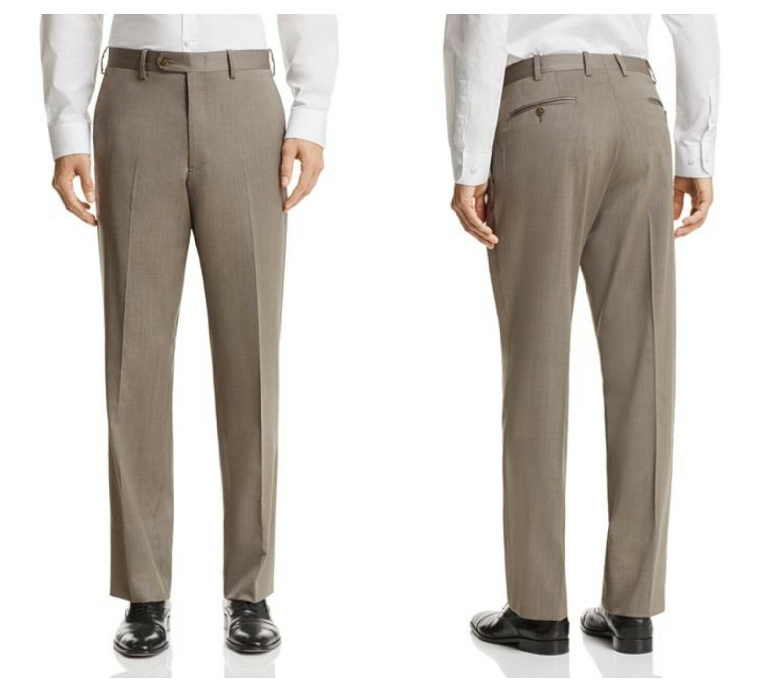 BLOOMINGSDALE  MENS LIGHT BROWN  WOOL DRESS  PANTS   Sz 36R    155