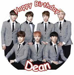 "BTS K POP 8"" ICING CAKE TOPPER | eBay"